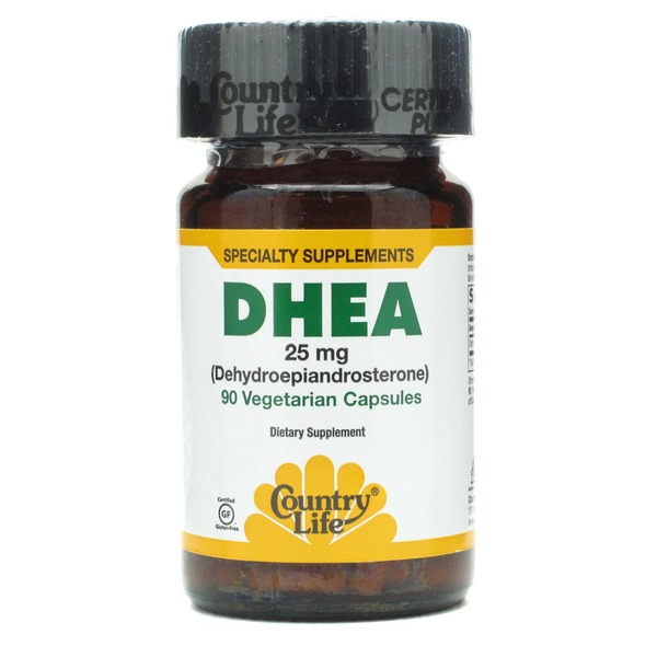 Country Life Gluten Free DHEA Vegetarian Capsules 25 Mg