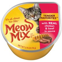 Meow Mix Wet Cat Food With Real Chicken & Beef In Gravy, 2.75 oz