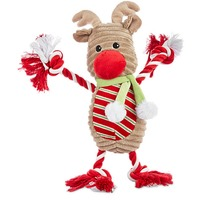 Time for Joy Holiday Large Reindeer Plush With Rope