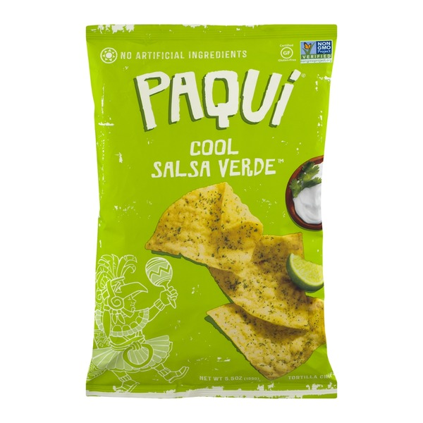 Paqui Cool Salsa Verde Tortilla Chips