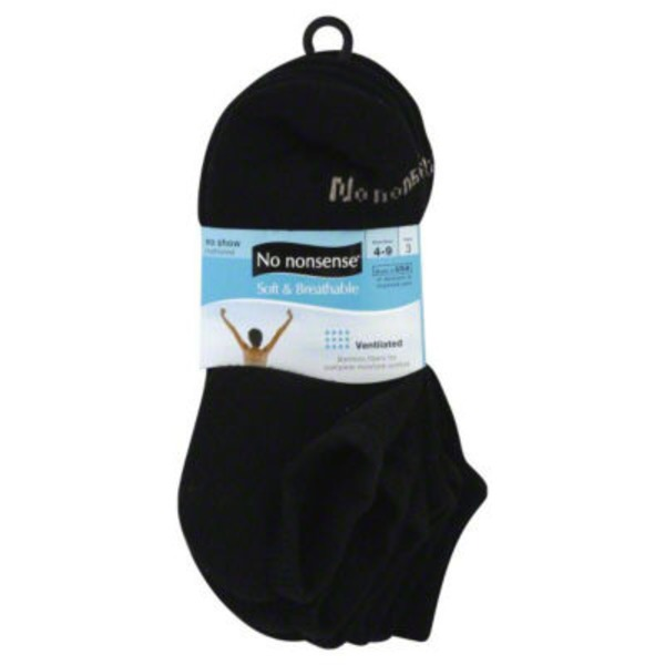 No Nonsense Socks No Show Cushioned Black