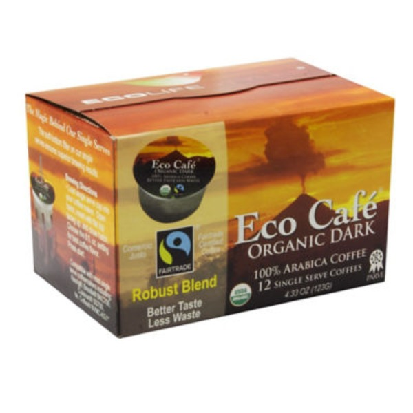 Eco Café Organic Dark Arabica Single Serve Coffee Cups