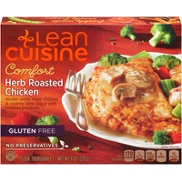 Lean Cuisine Comfort Tender white meat chicken & creamy herb sauce with roasted potatoes & broccoli florets Herb Roasted Chicken