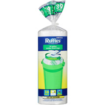 Ruffies Jumbo Trash Bags Clear