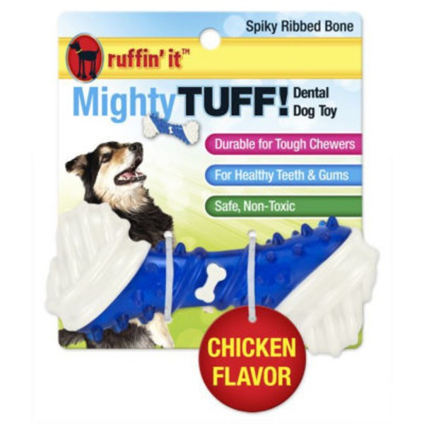 Ruffin' It Mighty Tuff Spiky Ribbed Bone