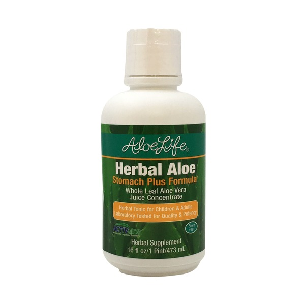 Aloe Life Aloe Vera Juice Concentrate, Whole Leaf, Herbal Aloe, Stomach Plus Formula