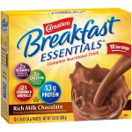 Carnation Breakfast Essentials© Powder Drink Mix, Rich Milk Chocolate, 10 Count Box of 1.26 oz Packets