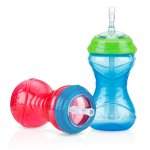 Nuby 10oz Clik-It Cup with Flexi-Straw 2 Pack, Colors May Vary