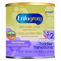 Enfagrow Toddler Transitions Gentlease Infant and Toddler Formula, Powder, 20 Ounces