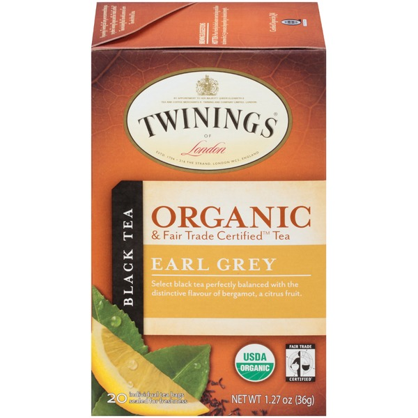 Twinings Organic & Fair Trade Certified Earl Grey Black Tea