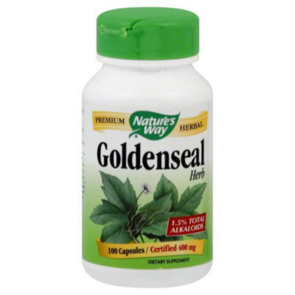 Nature's Way Goldenseal Herb 400mg Capsules - 100 CT