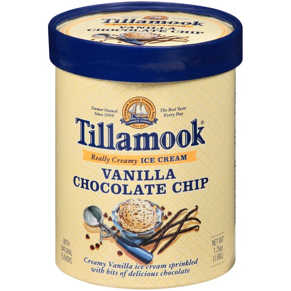Tillamook Vanilla Chocolate Chip Ice Cream