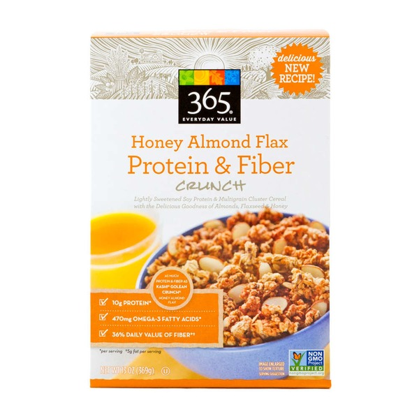 365 Honey Almond Flax Protein & Fiber Crunch Cereal