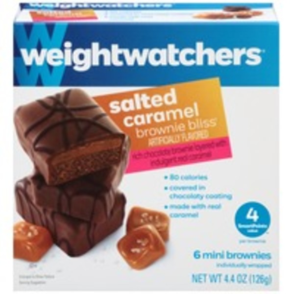 Weight Watchers Sweet Baked Goods Salted Caramel Brownie Bliss Mini Brownies