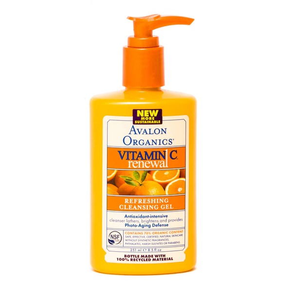 Avalon Organics Vitamin C Sun-Aging Defense Refreshing Cleansing Gel
