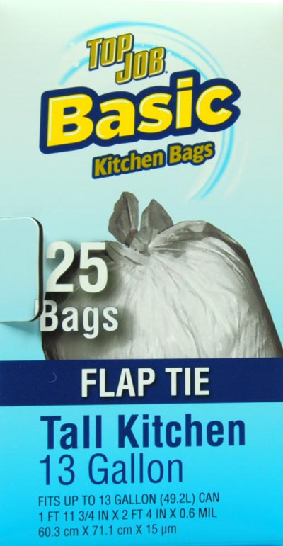 Top Job Tall Flap Tie Trash Bags
