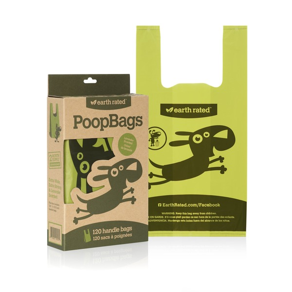Earth Rated Poop Bags Handle Tie Dog Waste Bags Pack Of 120 Bags