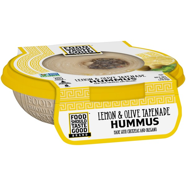 Food Should Taste Good Lemon & Olive Tapenade Hummus