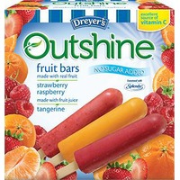 Dreyer's Outshine No Sugar Added Strawberry, Raspberry And Tangerine Fruit Bars