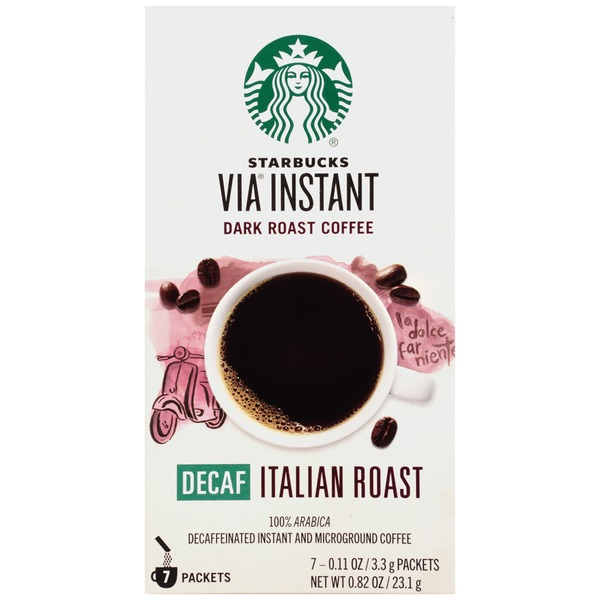 Starbucks VIA Instant Decaf Italian Roast Instant Coffee