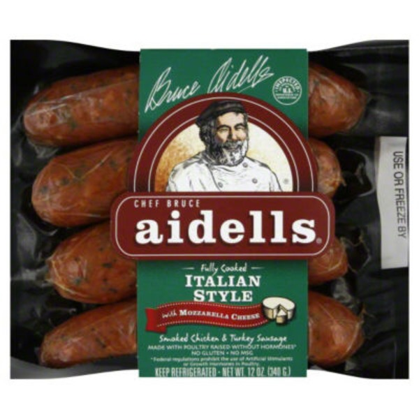 Aidells Smoked Chicken Sausage Italian Style with Mozzarella Cheese