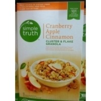 Simple Truth Cranberry Apple Cinnamon Cluster & Flake Granola