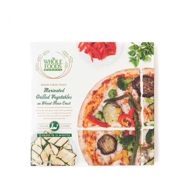 Whole Foods Market Marinated Grilled Vegetable Pizza On Wheat Flour Crust