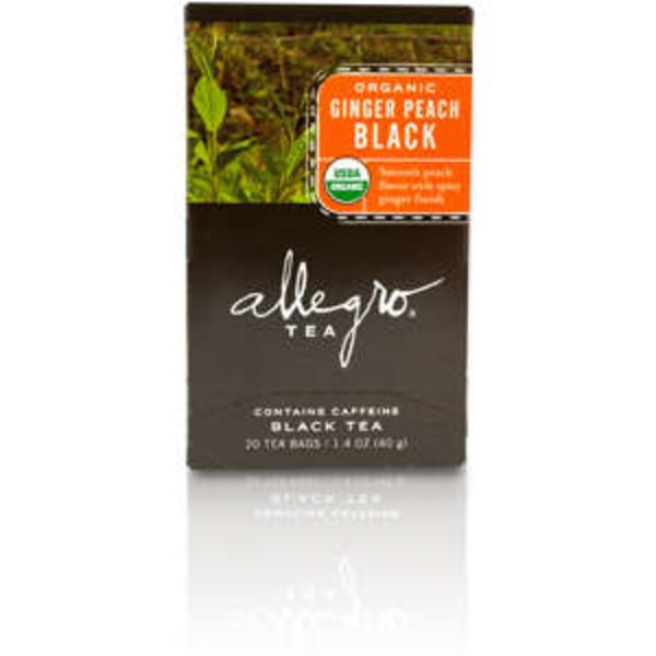 Allegro Organic Ginger Peach Black Tea Bags