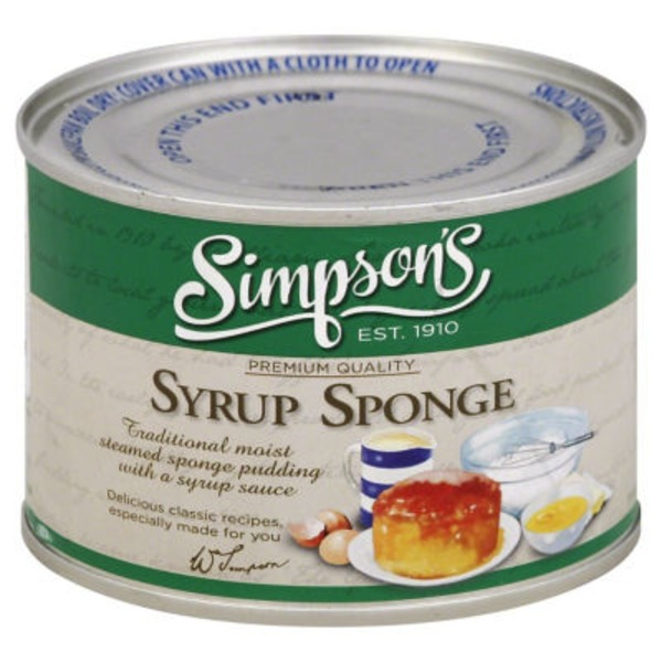 Simpsons Syrup Sponge