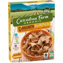 Cascadian Farm Organic Cereal, Cinnamon Crunch, Whole Grain Cereal, 9.2 oz, 9.2 OZ