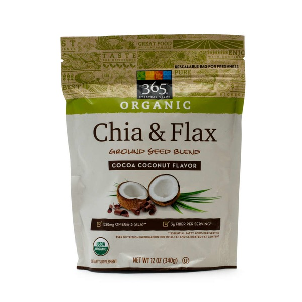365 Cocoa Coconut Flavor Chia Flax Seed Ground Blend