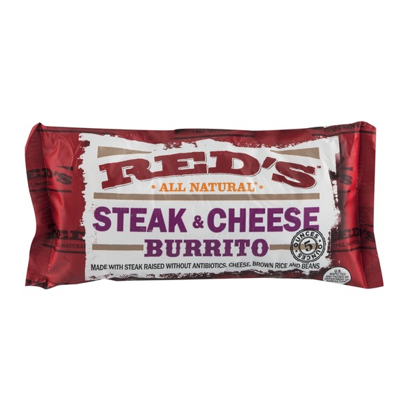 Red's All Natural Steak & Cheese Burrito
