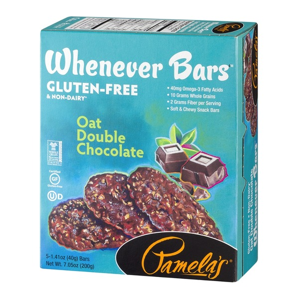 Pamela's Whenever Bars Oat Double Chocolate - 5 CT