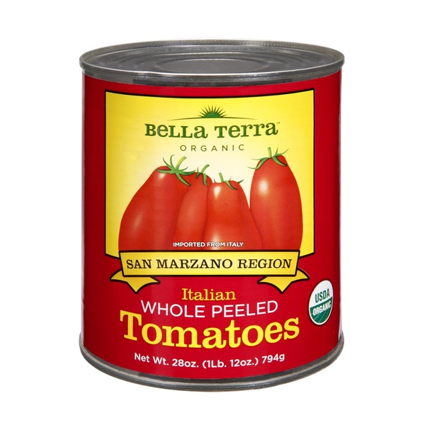 Bella Terra Organic Italian Whole Peeled Tomatoes