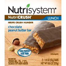Nutrisystem nutriCRUSH Chocolate Peanut Butter Lunch Bars, 5 count