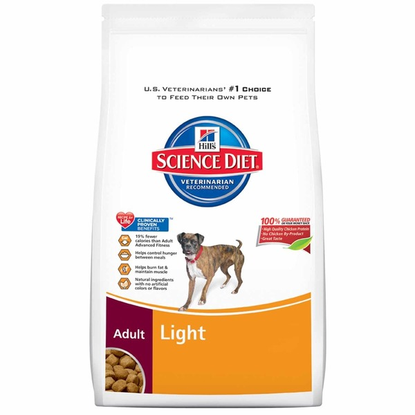 Hill's Science Diet Dog Food, Dry, Adult 1-6 Years, Light