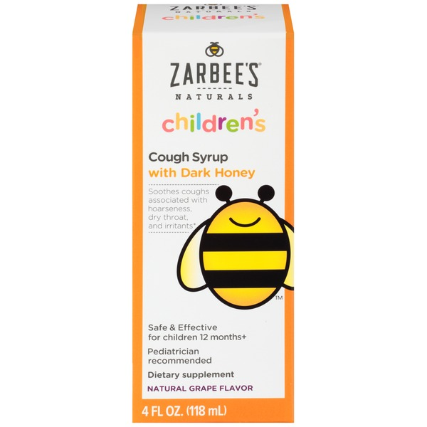 Zarbee's Naturals Children's Cough Syrup with Dark Honey Dietary Supplement
