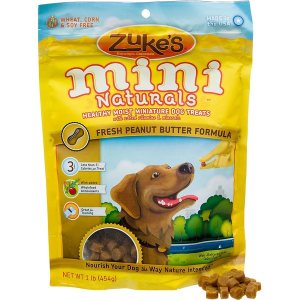 Zuke's Mini Naturals Peanut Butter Formula Dog Treats