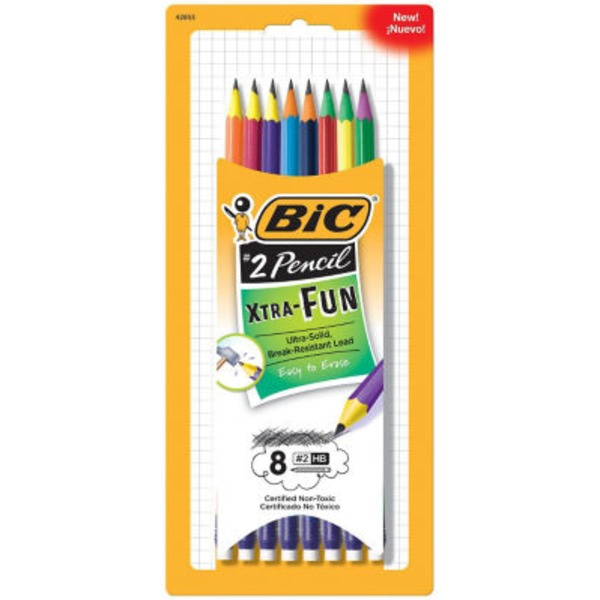 BiC Xtra-Fun #2 Pencil - 8 CT