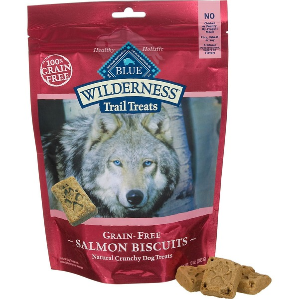 Blue Buffalo Grain-Free Salmon Recipe Natural Crunchy Dog Trail Treats