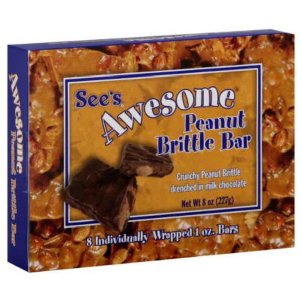 See's Candies Awesome Peanut Brittle Bar
