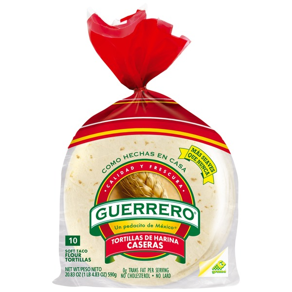 Guerrero Flour Soft Taco 10 ct Tortillas