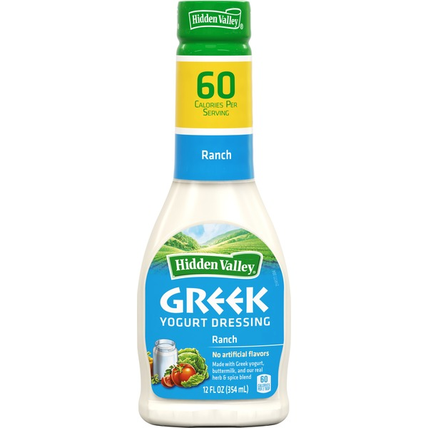 Hidden Valley Greek Yogurt Dressing, Ranch, 12 Ounces