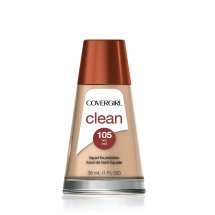 COVERGIRL Clean Makeup Foundation, Ivory 105, 1 oz