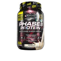MuscleTech Performance Series Phase8 Whey Protein Powder 26 grams of Protein Vanilla, 2.5 lbs
