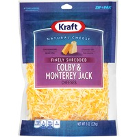 Kraft Natural Cheese Finely Shredded Colby & Monterey Jack Cheese