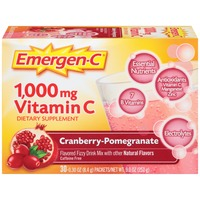Emergen-C Cranberry-Pomegranate Vitamin C 1000mg Drink Mix Dietary Supplement
