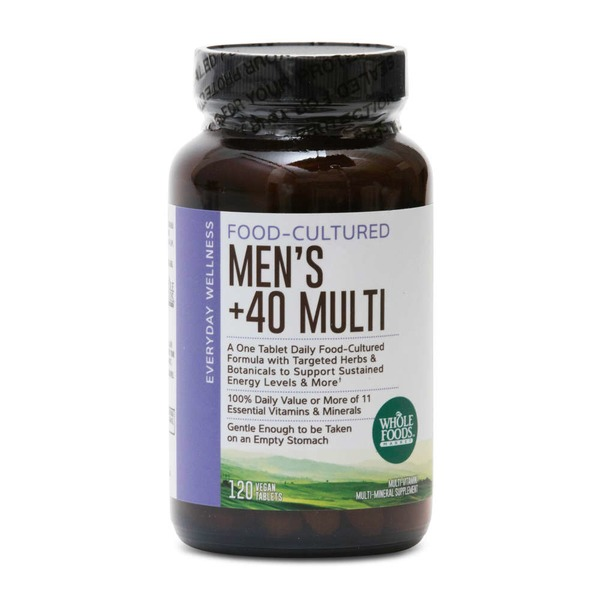 Whole Foods Market Mens 40+ Multivitamin Vegan Tablets