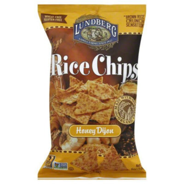 Lundberg Family Farms Honey Dijon Rice Chips MWO Rice Chips