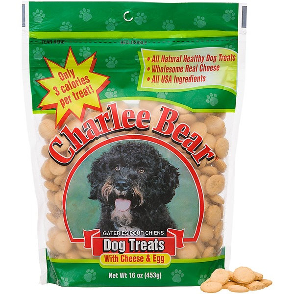 Charlee Bear Dog Treats With Cheese & Egg